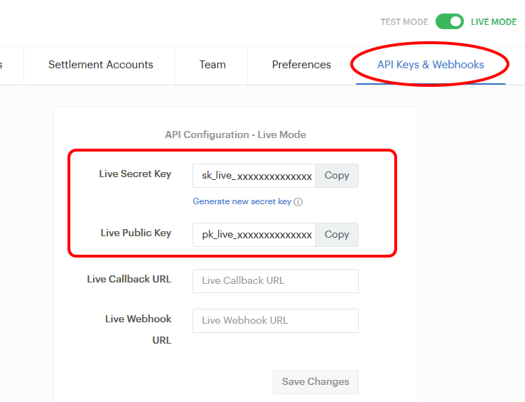 Paystack Live API Keys - Event Booking Paystack Payment Plugin Configuration