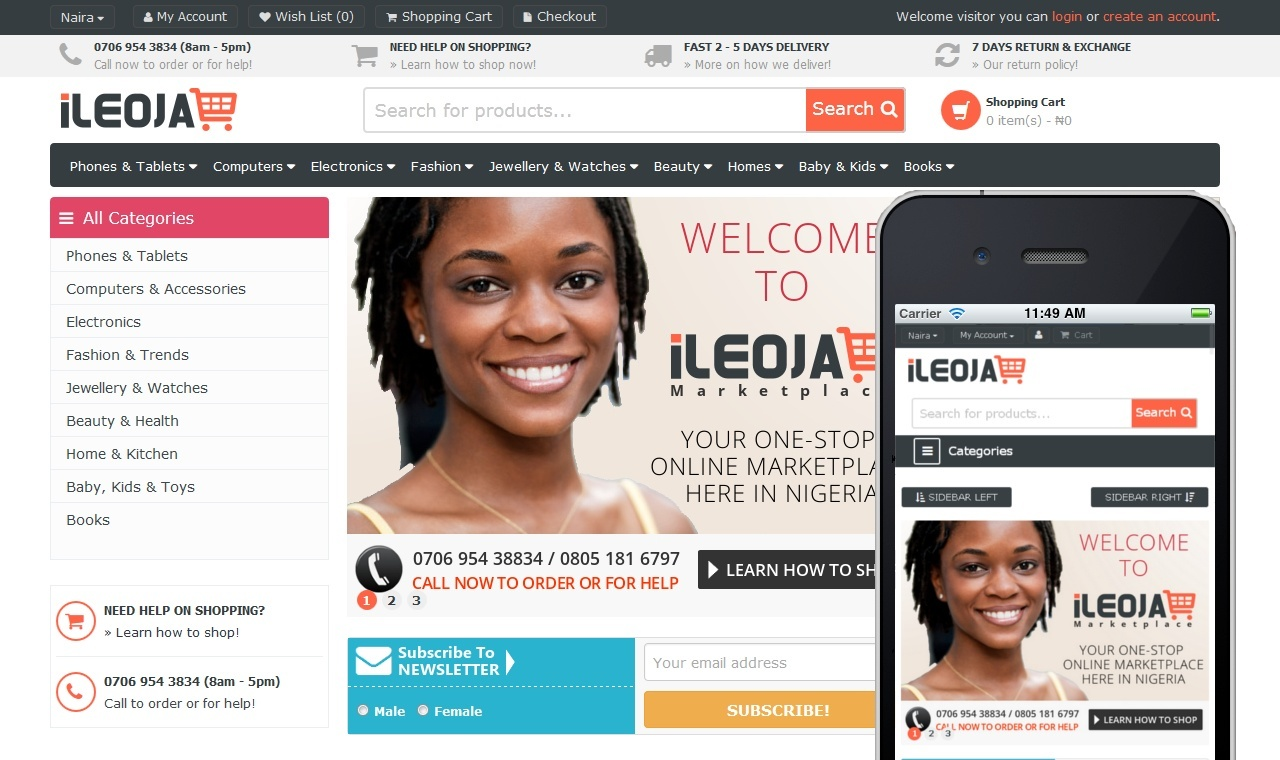 Ileoja - Online Store Website
