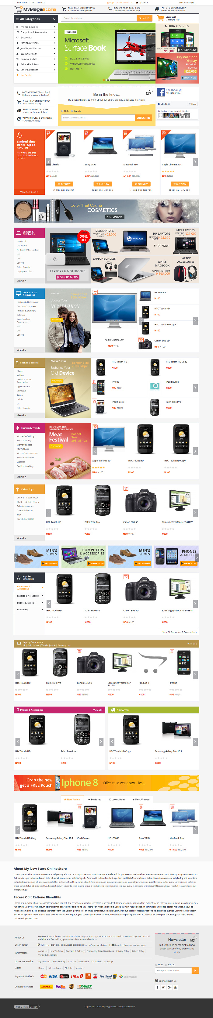 MyMegaStore - Pre-Designed Multi-Purpose eCommerce Website
