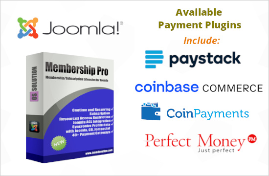 Payment Plugins for Membership Pro - Joomla membership subscription extension